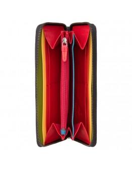Женский кошелек кожаный Visconti HR82 Von c RFID (Black Rainbow)