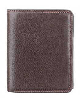 Коричневый кожаный кошелек Visconti HT11 Brixton c RFID (Chocolate)
