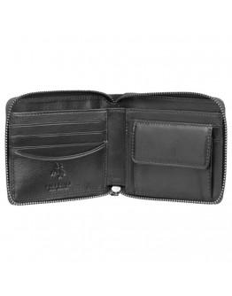 Кошелек черный кожаный Visconti HT14 Camden c RFID (Black)