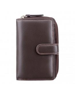 Женский коричневый кошелек Visconti HT33 Madame c RFID (Chocolate)