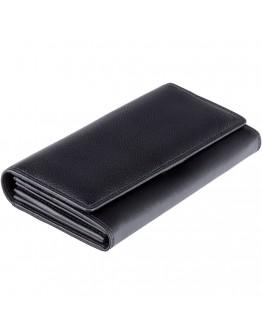 Черное женское портмоне Visconti HT35 Buckingham c RFID (Black)