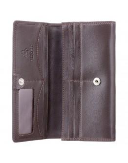 Коричневое женское портмоне Visconti HT35 Buckingham c RFID (Chocolate)