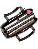 Фотография Женская черная деловая кожаная сумка Visconti ITL80 (Black)