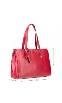 Красная женская кожаная деловая сумка  ITL80 (Red)