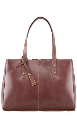 Коричневая женская кожаная деловая сумка Visconti ITL80 (Tan)