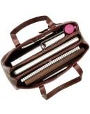 Фотография Коричневая женская кожаная деловая сумка Visconti ITL80 (Tan)