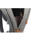 Фотография Серый мужской тканевый вместительный рюкзак K-1002GR