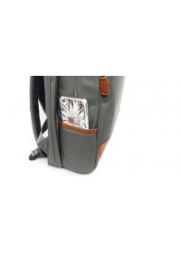 Серый мужской тканевый вместительный рюкзак K-1002GR