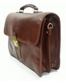Фотография Коричневый кожаный мужской элегантный портфель Katana K36804-3