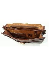 Коричневый кожаный мужской элегантный портфель Katana K36804-3