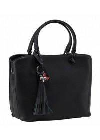 Черная женская кожаная сумка KJ1222878A