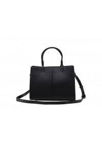 Женская кожаная сумка черного цвета KARFEI KJ1222899A