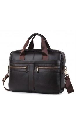 Мужская коричневая сумка для документов KM0408