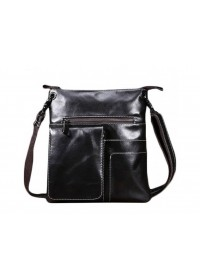 Темно-коричневая мужская сумка через плечо L-0023