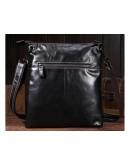 Фотография Темно-коричневая мужская сумка через плечо L-0023
