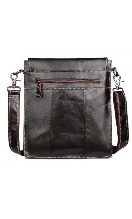 Тёмно коричневая мужская сумка планшетка L009