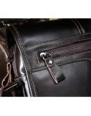 Фотография Коричневая кожаная сумка мужская с клапаном L1015