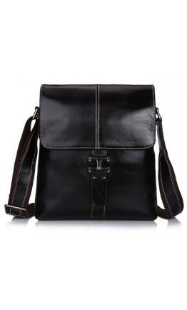 Темно-коричневый кожаный мужской мессенджер L3356