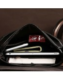 Фотография Темно-коричневый кожаный мужской мессенджер L3356