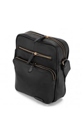 Черная мужская сумка на плечо кожаная Limary LA111