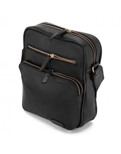 Фотография Черная мужская сумка на плечо кожаная Limary LA111