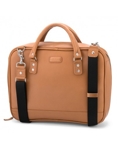 Фотография Портфель мужской кожаный коричневого цвета Limary LB601