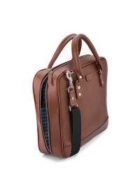 Мужской кожаный портфель коричневый Limary LC601