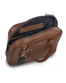 Фотография Мужской кожаный портфель коричневый Limary LC601