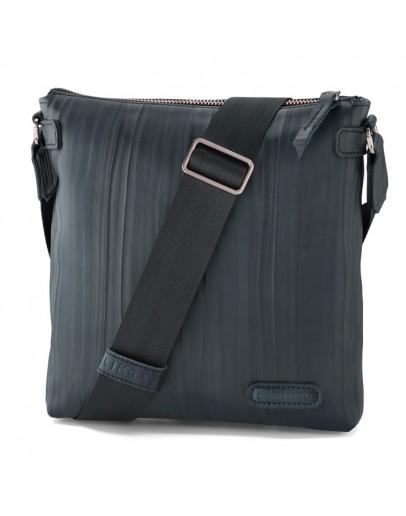 Фотография Синяя мужская кожаная сумка на плечо Limary LN101