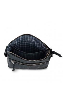 Синяя мужская кожаная сумка на плечо Limary LN101