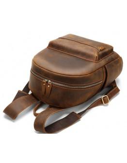 Винтажный кожаный рюкзак коричневого цвета M2315R