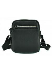 Черная небольшая кожаная мужская сумка M2605-1A