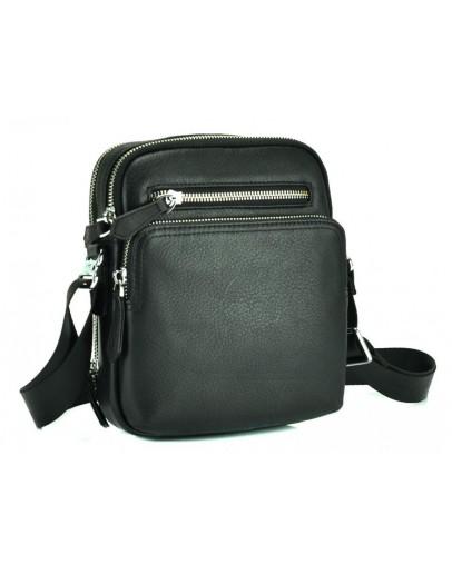 Фотография Черная небольшая кожаная мужская сумка M2605-1A