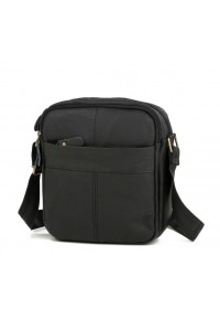Черная мужская маленькая кожаная сумка M38-1025A