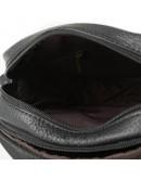 Фотография Черная мужская маленькая кожаная сумка M38-1025A
