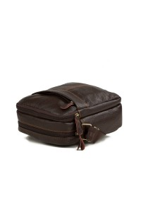Коричневая мужская маленькая кожаная сумка M38-1025C