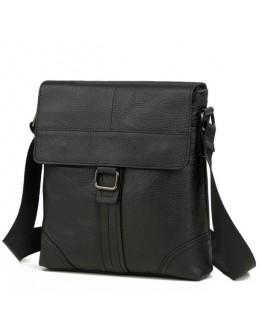 Черная кожаная мужская плечевая сумка M38-1712A