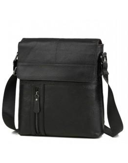 Мессенжер мужской черного цвета кожаный M38-1713A