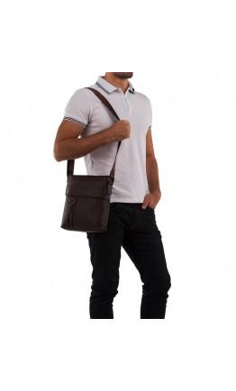 Мессенджер мужской коричневого цвета кожаный M38-1713C