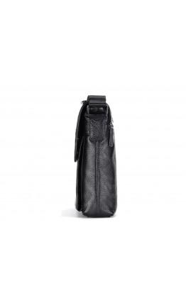Черная мужская сумка через плечо кожаная M38-3107A