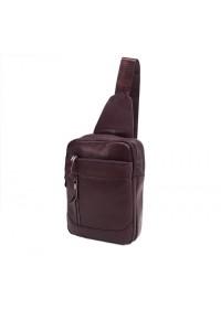 Коричневый мужской рюкзак, на одну шлейку M38-3313C