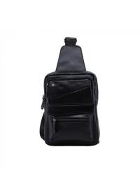 Черный мессенджер - рюкзак кожаный M38-3317A