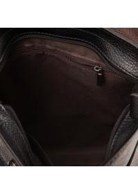Черный мессенджер мужской из натуральной кожи M38-3821A