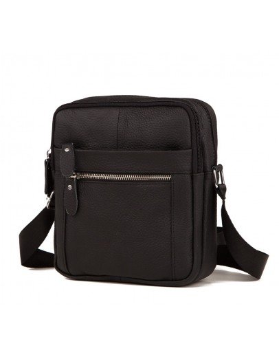 Фотография Черная небольшая мужская сумочка на плечо M38-3922A