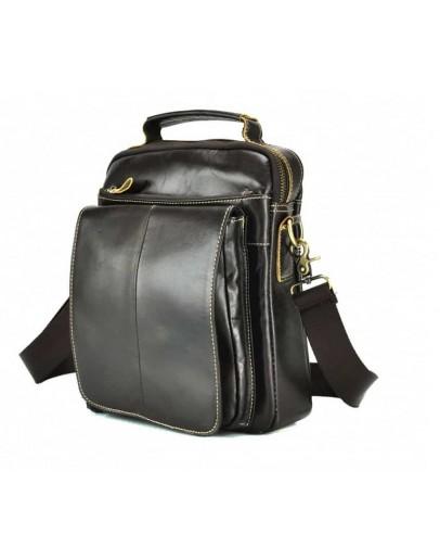 Фотография Коричневая мужская сумка на плечо M38-5026C