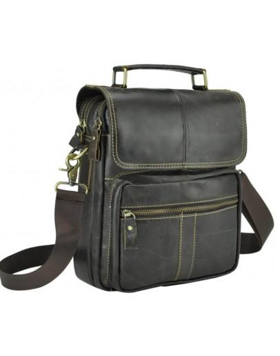 Фотография Коричневая вместительная мужская кожаная сумка M38-5031DB