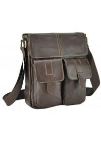 Коричневая мужская сумка через плечо M38-5032C