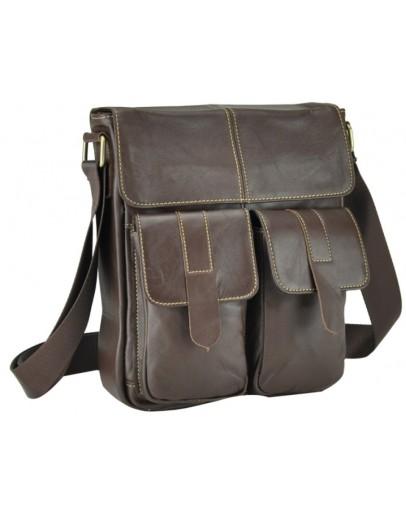 Фотография Коричневая мужская сумка через плечо M38-5032C