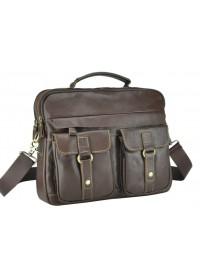 Коричневая кожаная мужская удобная сумка M38-5035C
