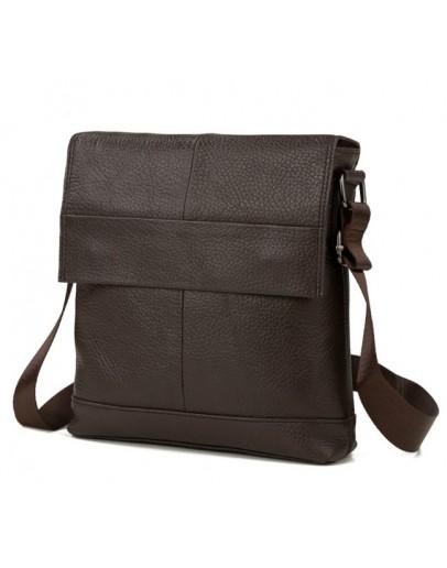 Фотография Коричневая мужская деловая сумка на плечо M38-8136C